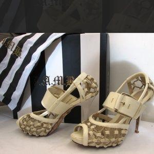 LAMB Flavia Strappy Heels G1273 EUC w/ Box & Bag
